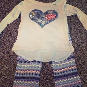 Girls matching set children's place size 4